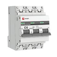Автоматический выключатель 3P C6 EKF PROxima ВА 47-63