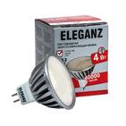 8W белый нейтральный. Лампа светодиодная LED 8вт GU5,3- MR 16 (матовая) 3000К ELEGANZ (1009 8w)