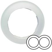 Simon 88 Двухместная круглая рамка (белый)