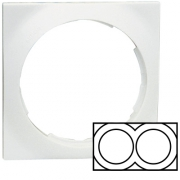 Simon 88 Двухместная квадратная рамка (белый)