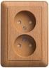 Розетка 2-ая электрическая без заземления, бук, Schneider Electric, Wessen 59
