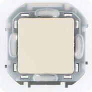 Переключатель проходной влагозащищенный, 10 AX, 250 В, IP44 - слоновая кость INSPIRIA 673671