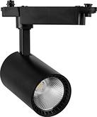 Трековый светильник, 12W, 1080 Lm, 4000К, 35 градусов, AL102 - черный, Feron