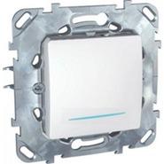Выключатель кнопочный (кнопка звонка) с индикацией в рамку белый Schneider Electric/Unica MGU5.206.18NZD