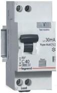Дифавтомат 1P+N 25A 30mA AC Legrand RX³