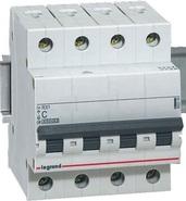 Legrand RX3 Четырехполюсный автоматический выключатель 4P 16A 4,5кА