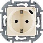 Розетка с заземлением, со встроенным зарядным устройством USB C 1.5А 5В - слоновая кость INSPIRIA 673771