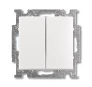 Выключатель 2 кл., альпийский белый, ABB Basic 55 (1012-0-2141)