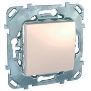 Выключатель одноклавишный в рамку бежевый Schneider Electric/Unica MGU5.201.25ZD