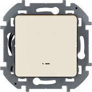 Переключатель проходной 1 кл с подсветкой, 10 AX, 250 В - слоновая кость INSPIRIA 673661