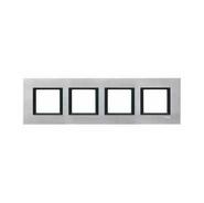 Рамка 4 поста серебристый алюминий Schneider Electric MGU68.008.7A1