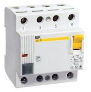 Выключатели дифференциальные (УЗО) IEK 4P 25A 30мА