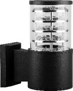 Светодиодный уличный светильник, без лампы, E27, 220*175*108, DH0801 - черный, Feron