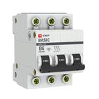 Автоматический выключатель 3P B6 4,5кА EKF Basic  ВА 47-29