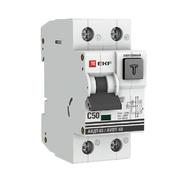 Дифавтомат 2P C50А 30мА тип A 6кА EKF PROxima АВДТ-63