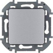 Переключатель проходной без фиксации (кнопка), Н.О./Н.З. контакт, 6 A, 250 В - алюминий INSPIRIA 673692