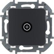 Розетка ТВ проходная, 14 дБ, 5-862 мГц - антрацит INSPIRIA 673863