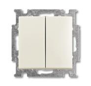 Выключатель 2 кл., белый, ABB Basic 55 (1012-0-2187)