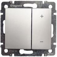 Светорегулятор нажимной 4-х кнопочный 40-600Вт - диммер - алюминий Legrand Valena 770274