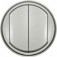 Legrand Celiane Кнопка двухклавишная (титан)