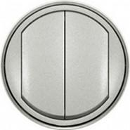 Legrand Celiane Лицевая панель двухклавишного выключателя (титан)