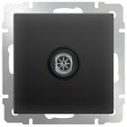 Розетка ТВ оконечная, WL08-TV - черный матовый, Werkel