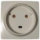 Розетка 1-но фазная для электроплиты - 32A, 2Р+Е