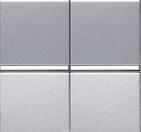 Переключатель 2 кл, 16А - серебро, ABB Zenit (2х х N2102 PL)