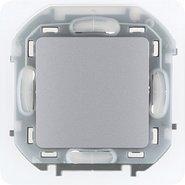 Переключатель проходной влагозащищенный, 10 AX, 250 В, IP44 - алюминий INSPIRIA 673672