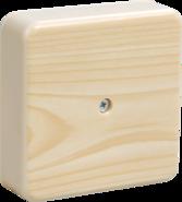 Коробка распаечная 75х75х20 мм, сосна, с контактной группой, КМ41212-04 - IEK
