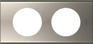 Legrand Celiane Двухместная рамка (никель велюр)