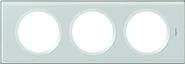 Legrand Celiane Трехместная рамка (смальта белая глина)