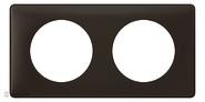 Legrand Celiane Двухместная рамка (черная перкаль)