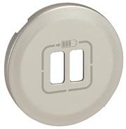 Legrand Celiane Лицевая панель USB розетки (титан)