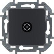 Розетка ТВ «звезда», 2 дБ, 0-2400 мГц - антрацит INSPIRIA 673853