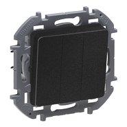 Выключатель 3 кл, 10 AX, 250 В - антрацит INSPIRIA 673643