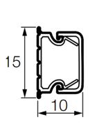 Кабель-канал 15x10мм, Legrand METRA (638190)