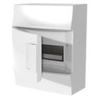 Бокс настенного монтажа, 8 модулей, белый, непрозрачная дверь, с клеммами, IP41, Mistral W - ABB