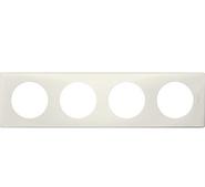 Legrand Celiane Четырехместная рамка (белая перкаль)