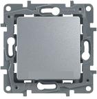 Выключатель одноклавишный алюминий Legrand Etlka 672401