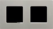 Рамка 2 поста светлая галька Legrand Etika 672522