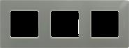 Рамка 3 поста светлая галька Legrand Etika 672523