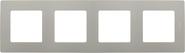 Рамка 4 поста светлая галька Legrand Etika 672524