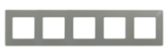 Рамка 5 постов светлая галька Legrand Etika 672525
