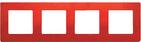 Рамка 4 поста красная Legrand Etika 672534