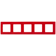 Рамка 5 постов красная Legrand Etika 672535