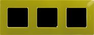 Рамка 3 поста зеленый папоротник Legrand Etika 672543