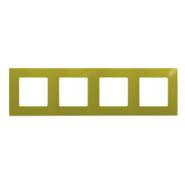 Рамка 4 поста зеленый папоротник Legrand Etika 672544