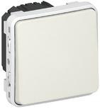 Plexo Выключатель/переключатель IP55 одноклавишный в рамку белый 69611