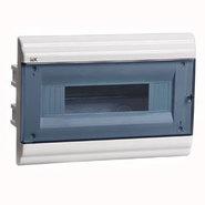 12 модулей Бокс встраиваемый ЩРв-П-12 IP41 пластиковый белый прозрачная дверь IEK MKP82-V-12-41-10